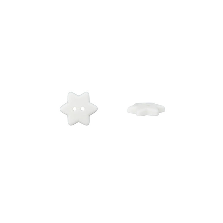 Children Button Stars, white
