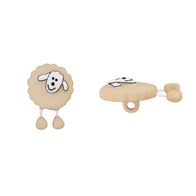 Knop sheep, beige 18 mm