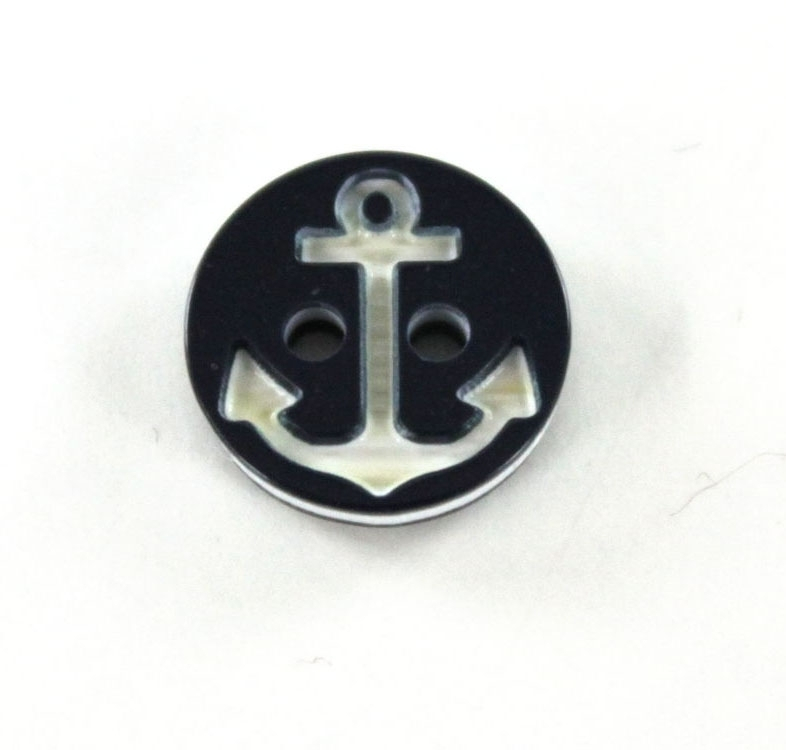 Button anchor 13 mm, navy blue