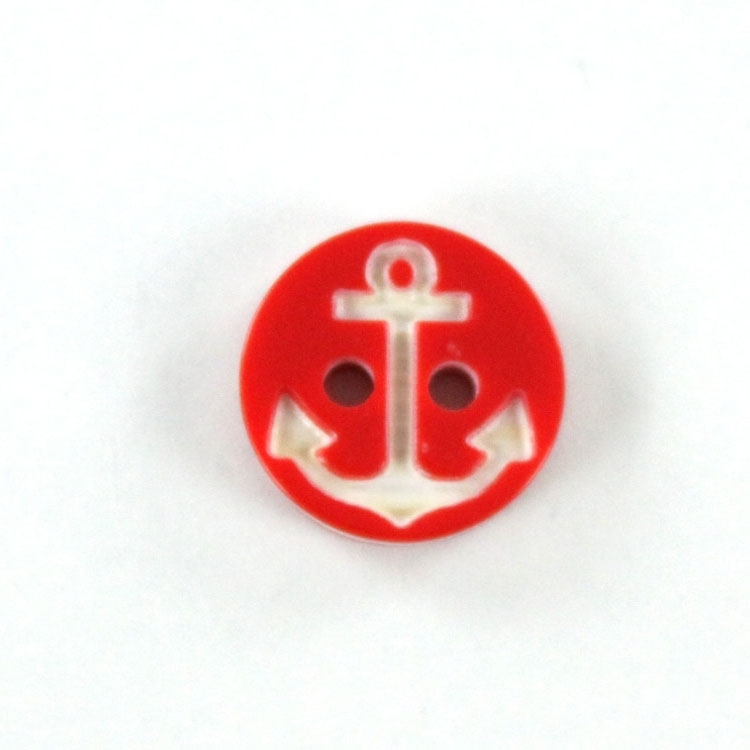 Bouton Ancre 13 mm, rouge