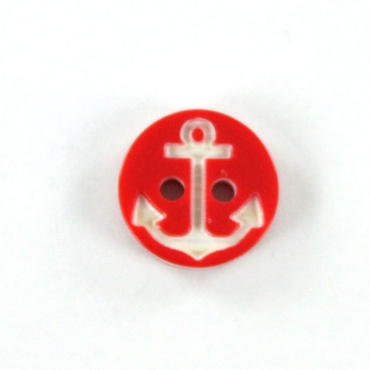 Button anchor 13 mm, red