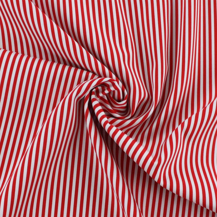 Cotton twill striped, red / white | 149.511-9105 | rot