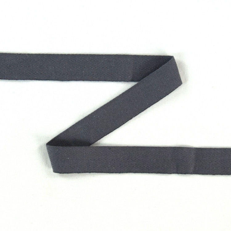 Twill ribbon, 14 mm, grey | S107-14-38 | grau