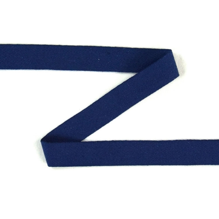 Twill ribbon, 14 mm, donker blauw