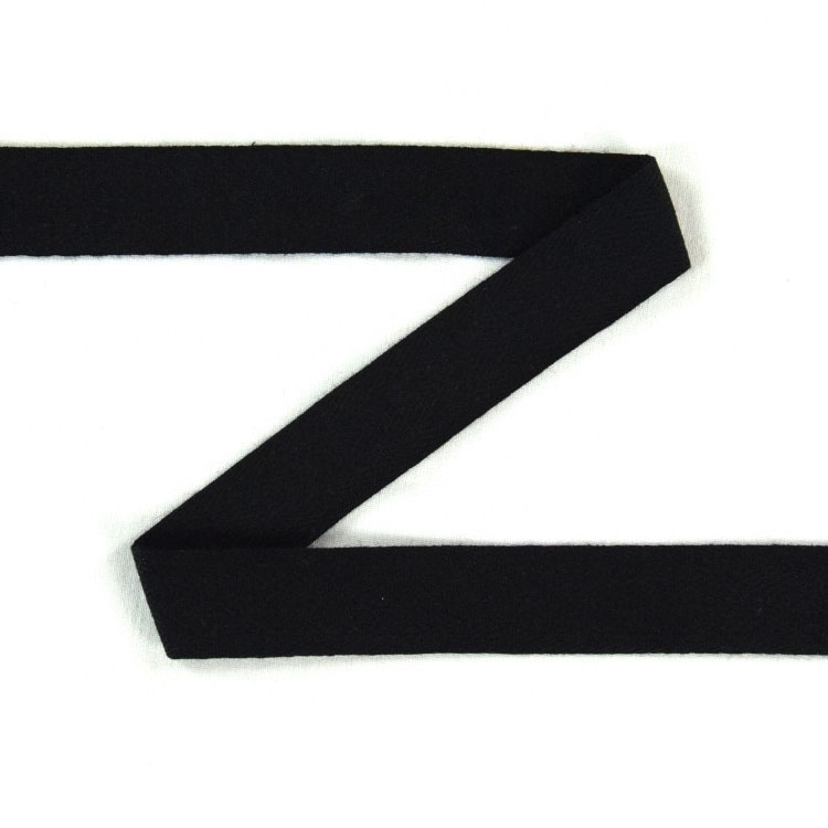 Twill ribbon, 14 mm, black | S107-14-14 | schwarz