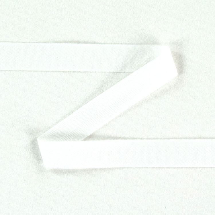 Twill ribbon, 14 mm, white | S107-14-01 | weiss