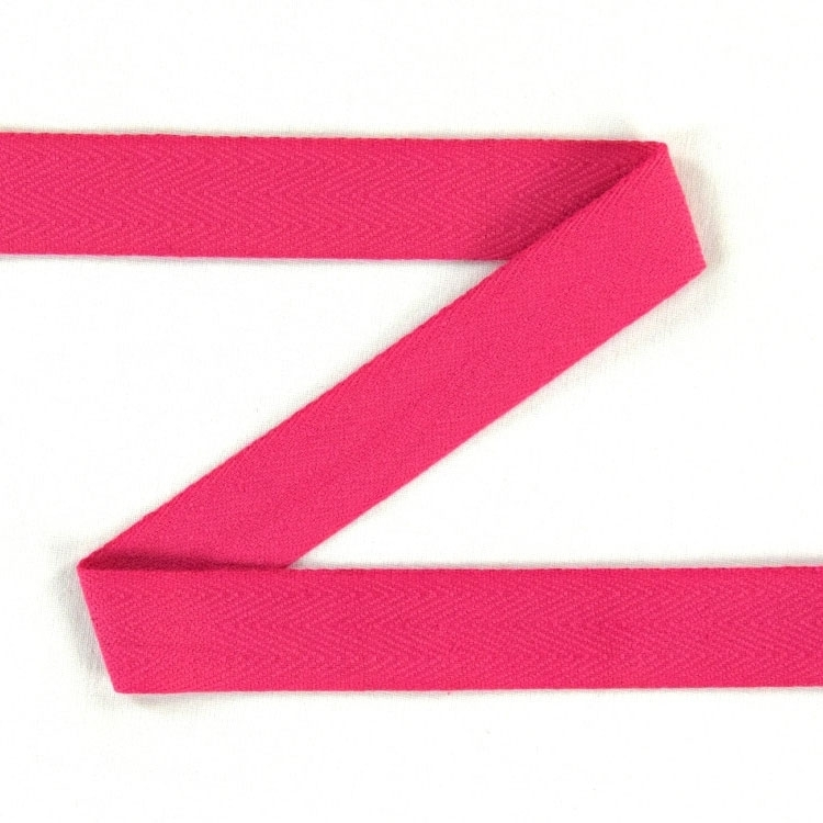 Twill ribbon, 20 mm, bright pink | S107-20-73 | pink