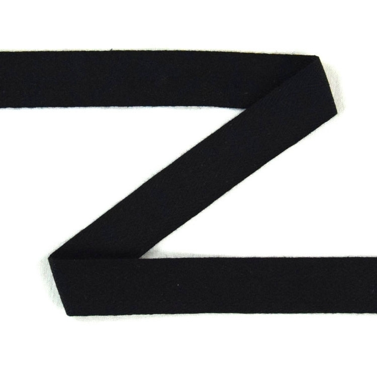 Twill ribbon, 20 mm, black | S107-20-14 | schwarz