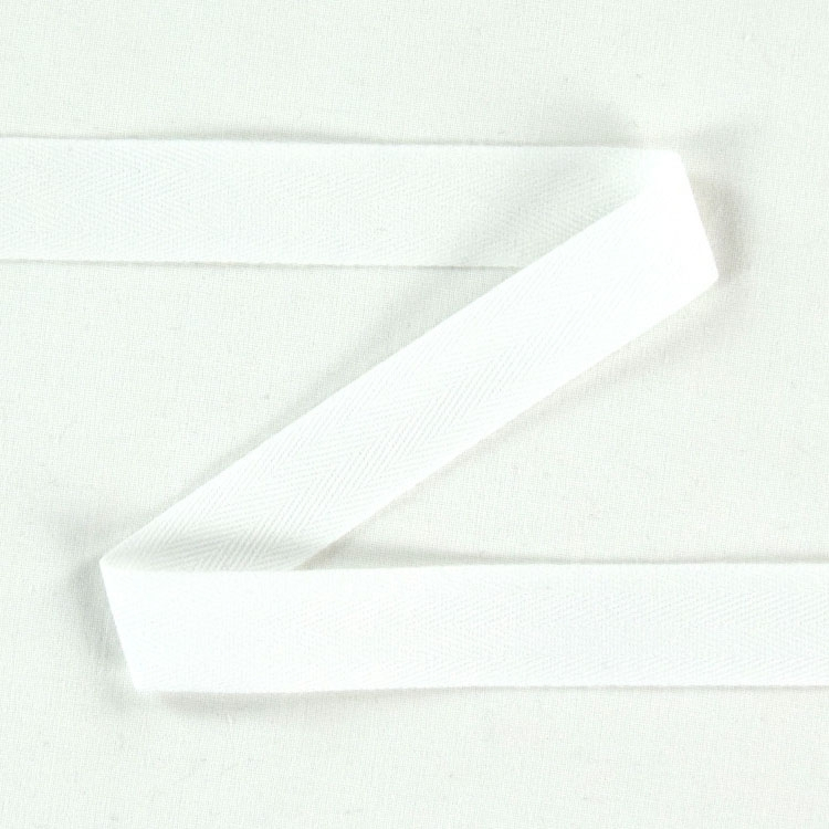 Twill ribbon, 20 mm, white | S107-20-01 | weiss