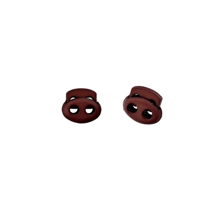 Cord-stopper, brown 15 mm