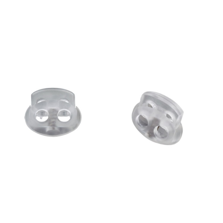 Cord-stopper, transparent 15 mm
