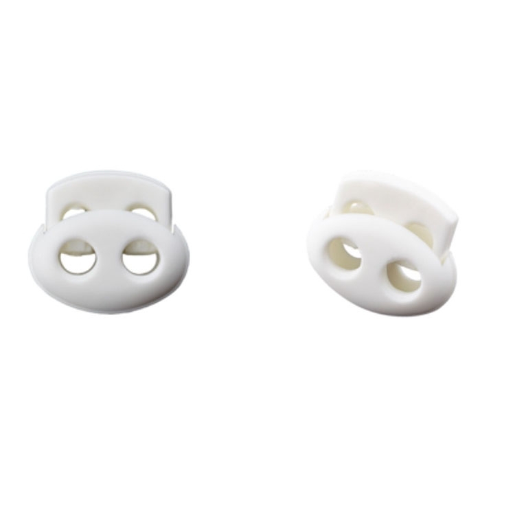 Cord-stopper, white 15 mm