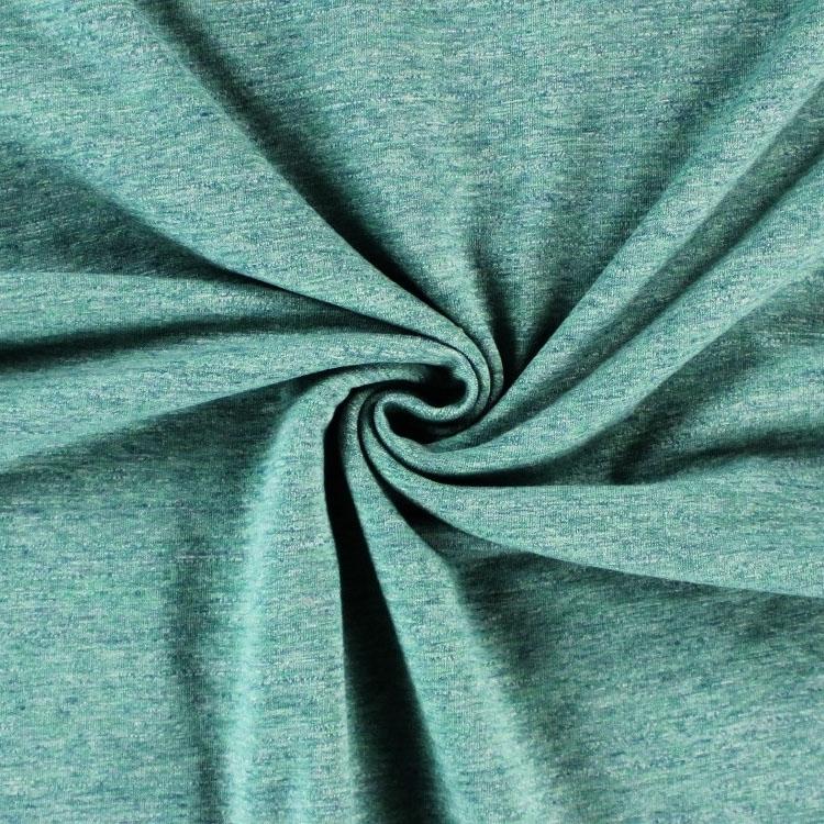 Grüner Sweatshirtstoff in Melange-Optik