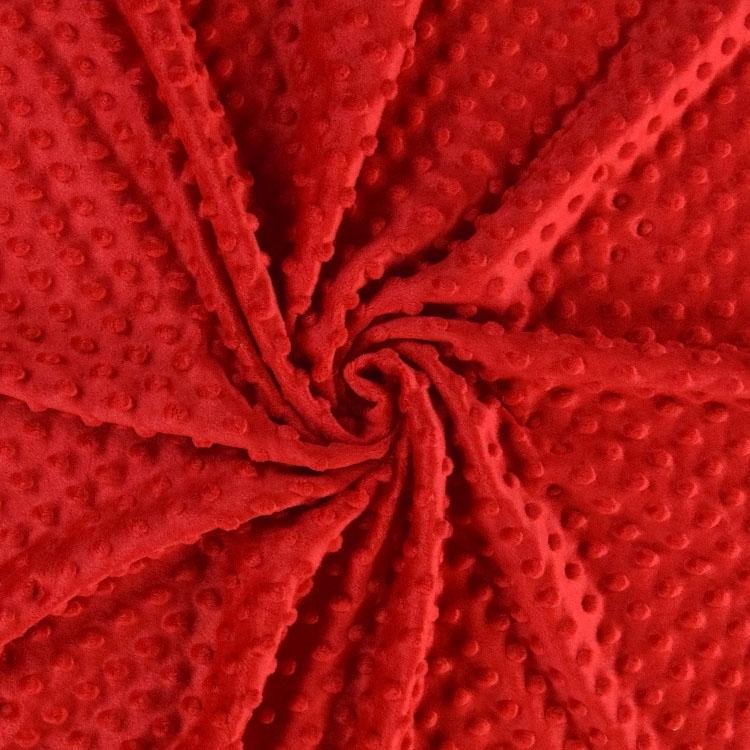 Weiches Kuschelfleece mit Noppen in Rot