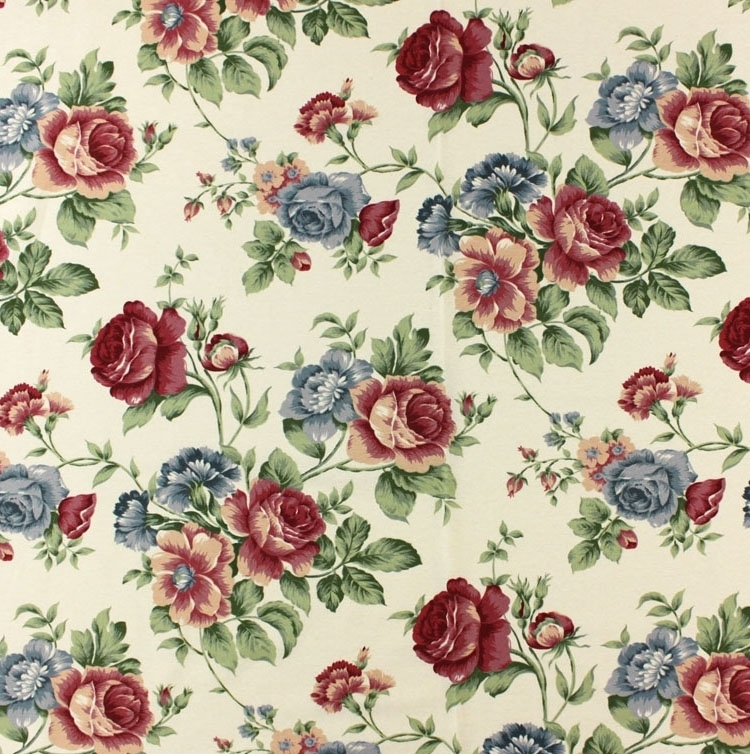 Cottage roses-fabric 1