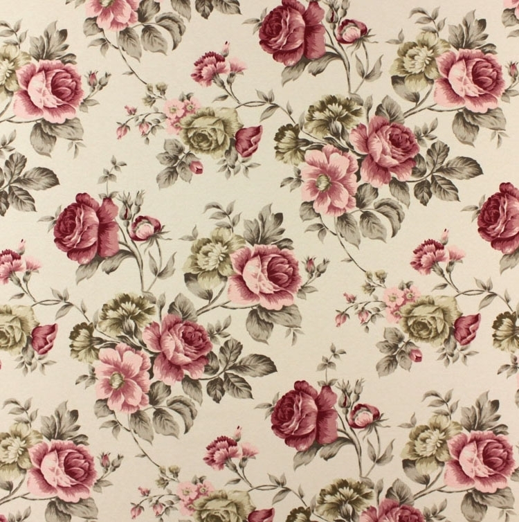 Style campagne, Tissu Roses 7