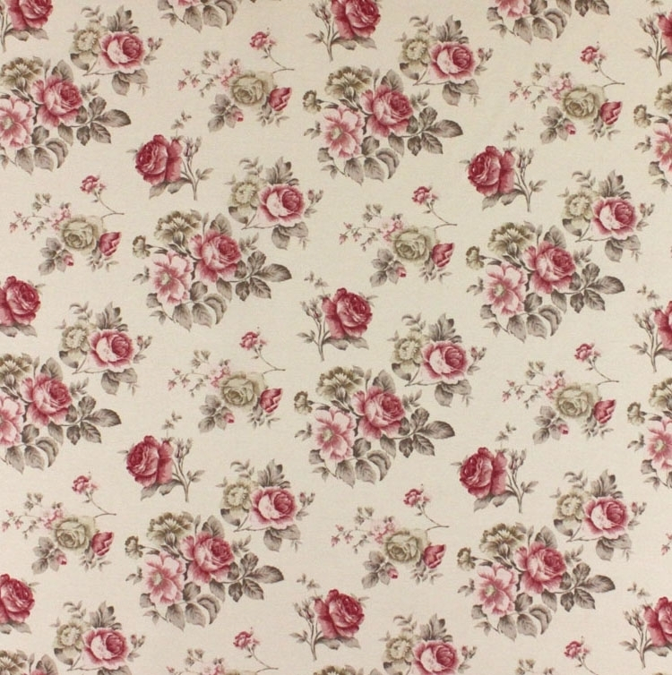 Style campagne, Tissu Roses 8