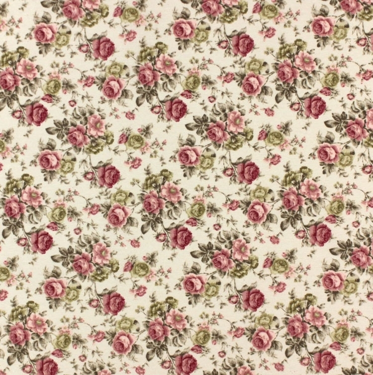 Style campagne, Tissu Roses 9