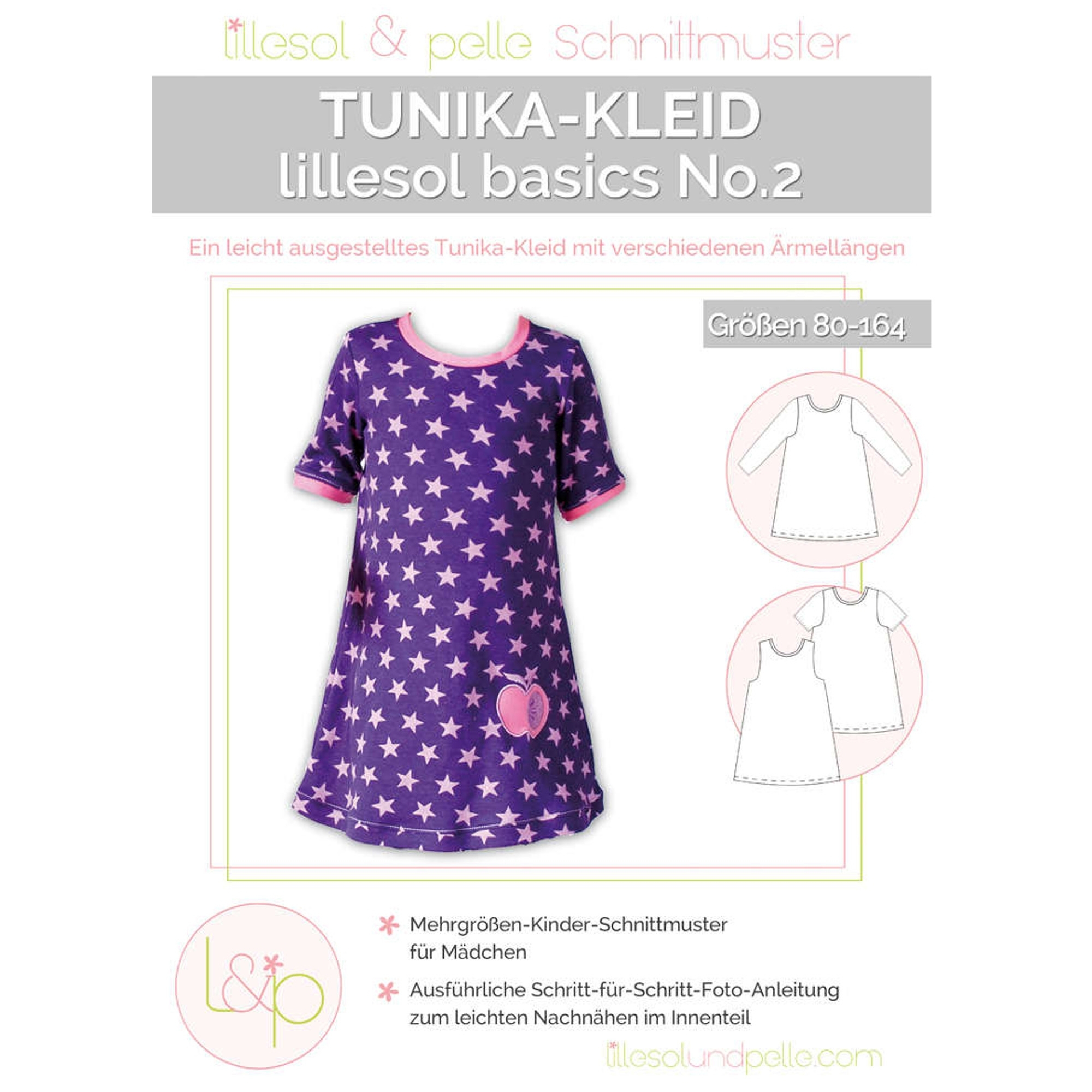 Lillesol Basics No. 2 Tunica Dress Kids Arkusz w wykrojem