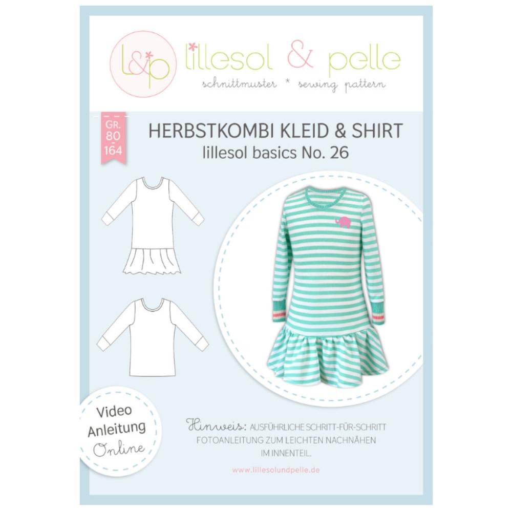 Papierschnittmuster für Herbstkombi Kleid & Shirt von lillesol & pelle Nr 26