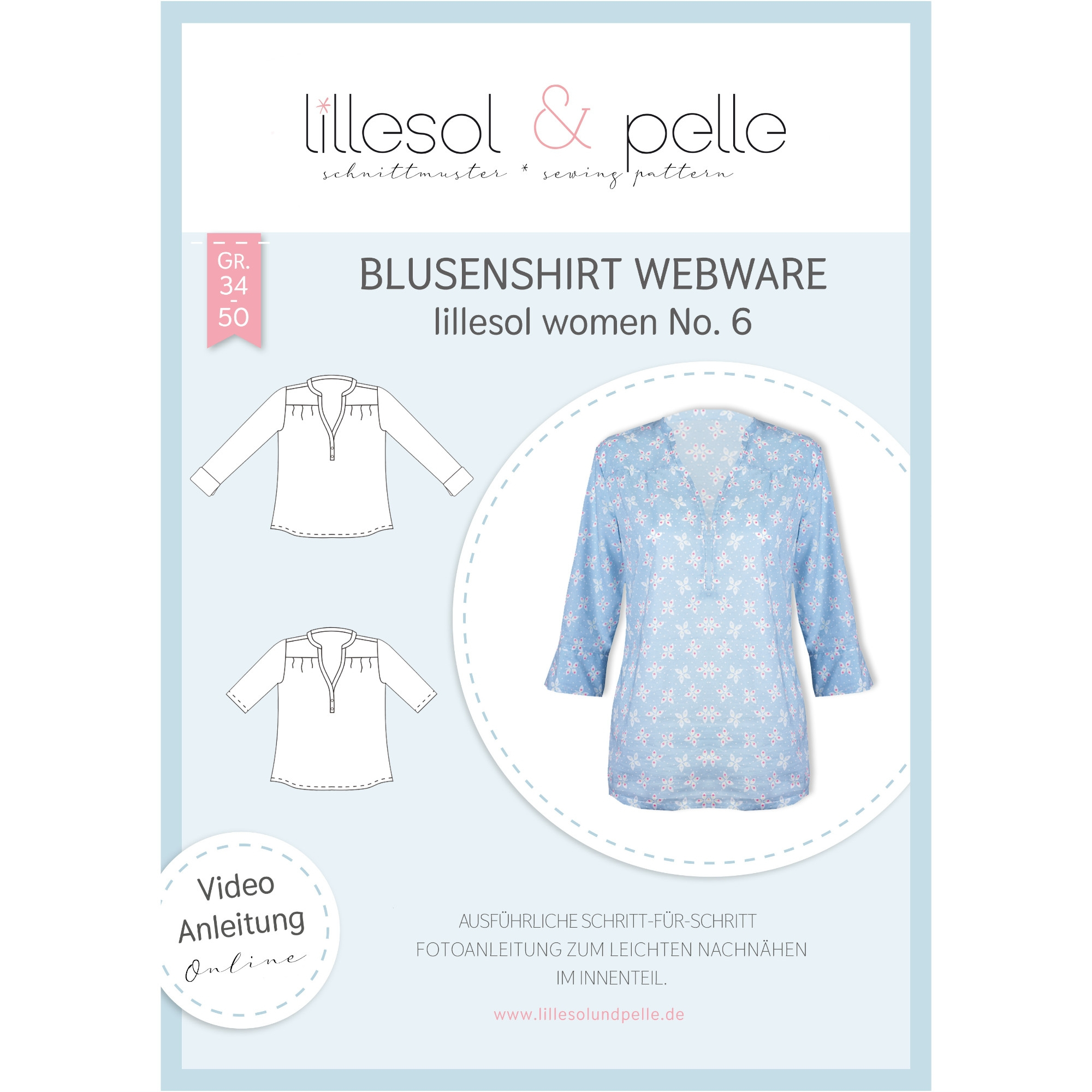 Lillesol Women No. 6 Blouse Shirt Patron en papier