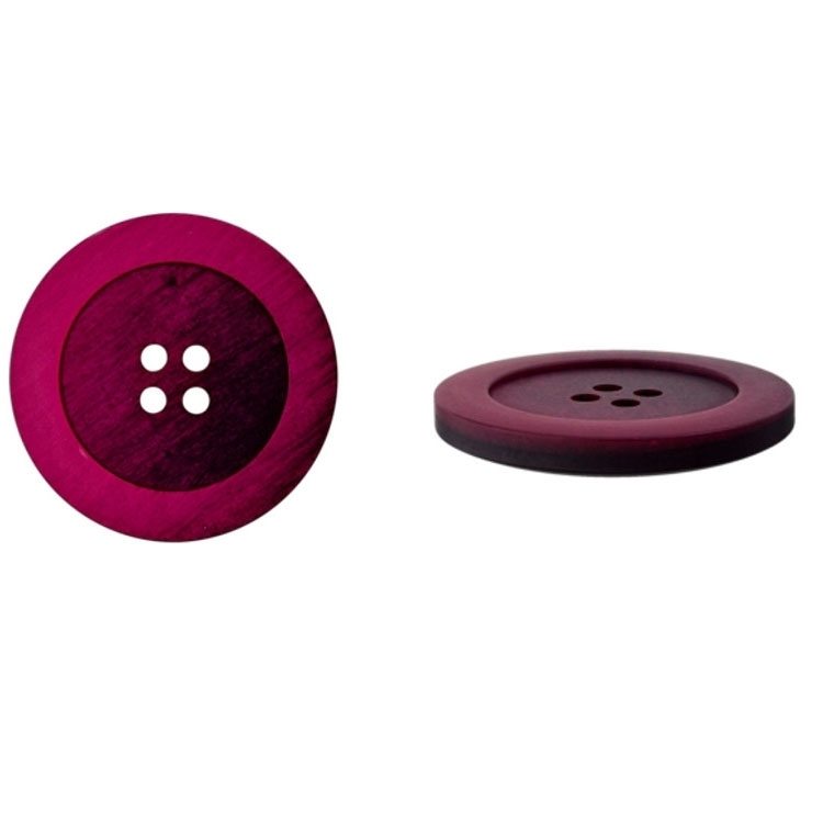 Melange-Button 25 mm, pink