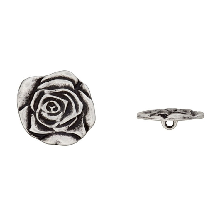 Metal Button Roses, 23 mm