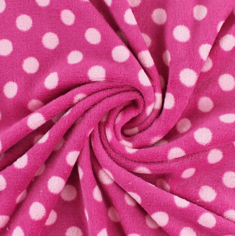 Microfleece Tupfen pink-rosa | 931.321-4080 | rosa