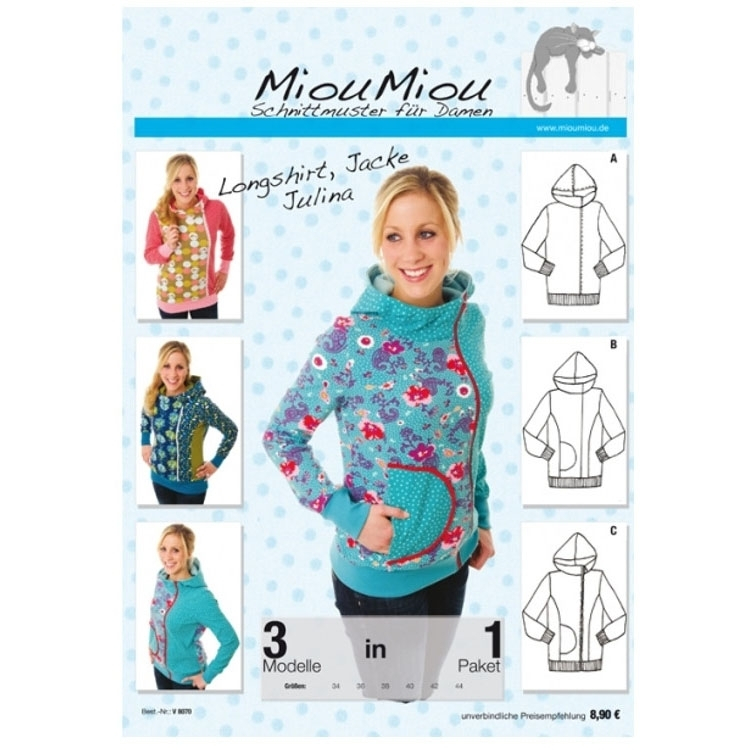 Miou Miou long shirt and jacket Julina, knip patroon