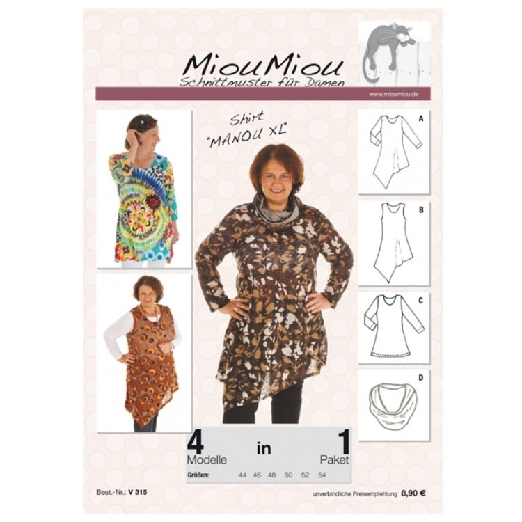 Miou Miou shirt Manou XL, paper pattern