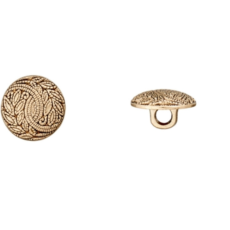 Shank Button with ornaments gold 22 mm