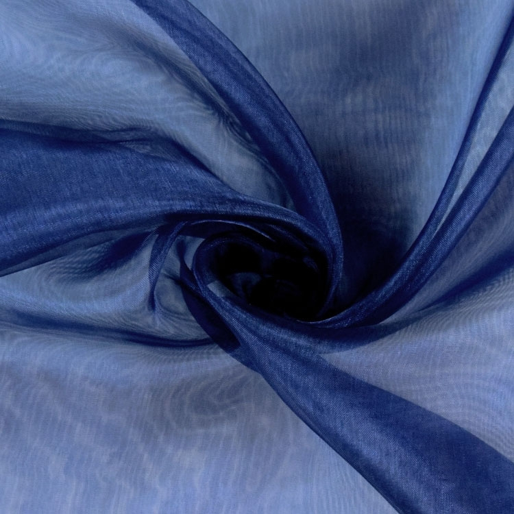 Organza dark blue