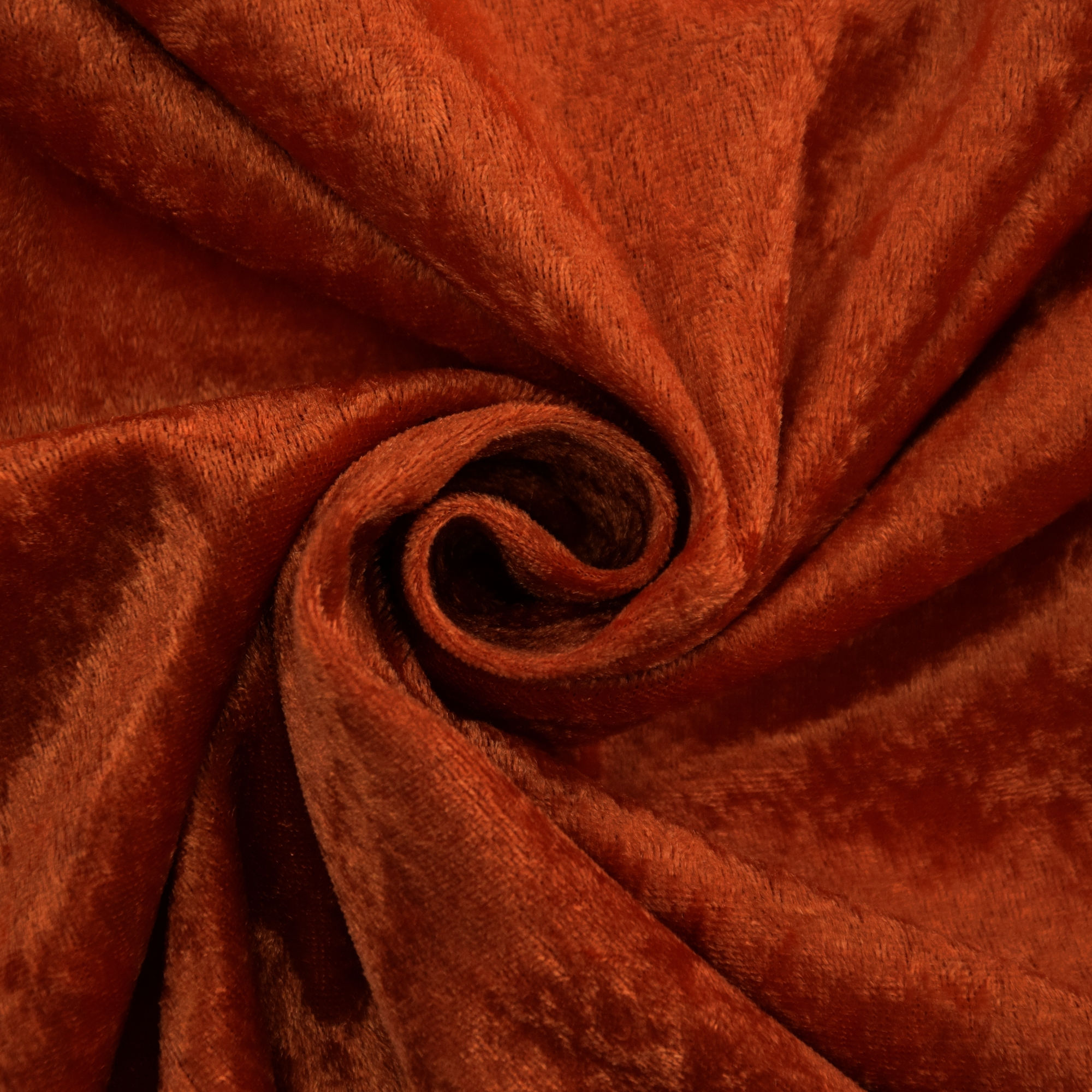 Velours de panne terracotta | 100.060-3009 | orange