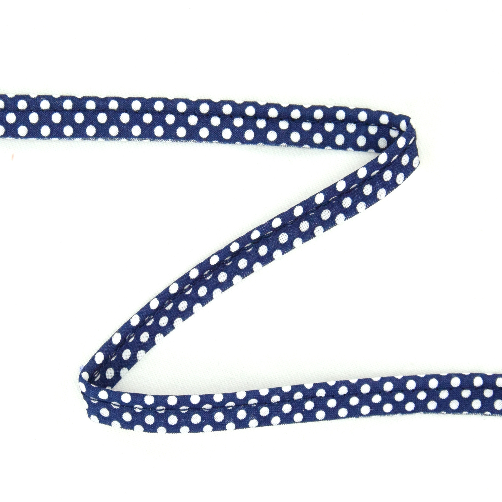 Piping ribbon Dots, marine-wit | 1822-23 | blau