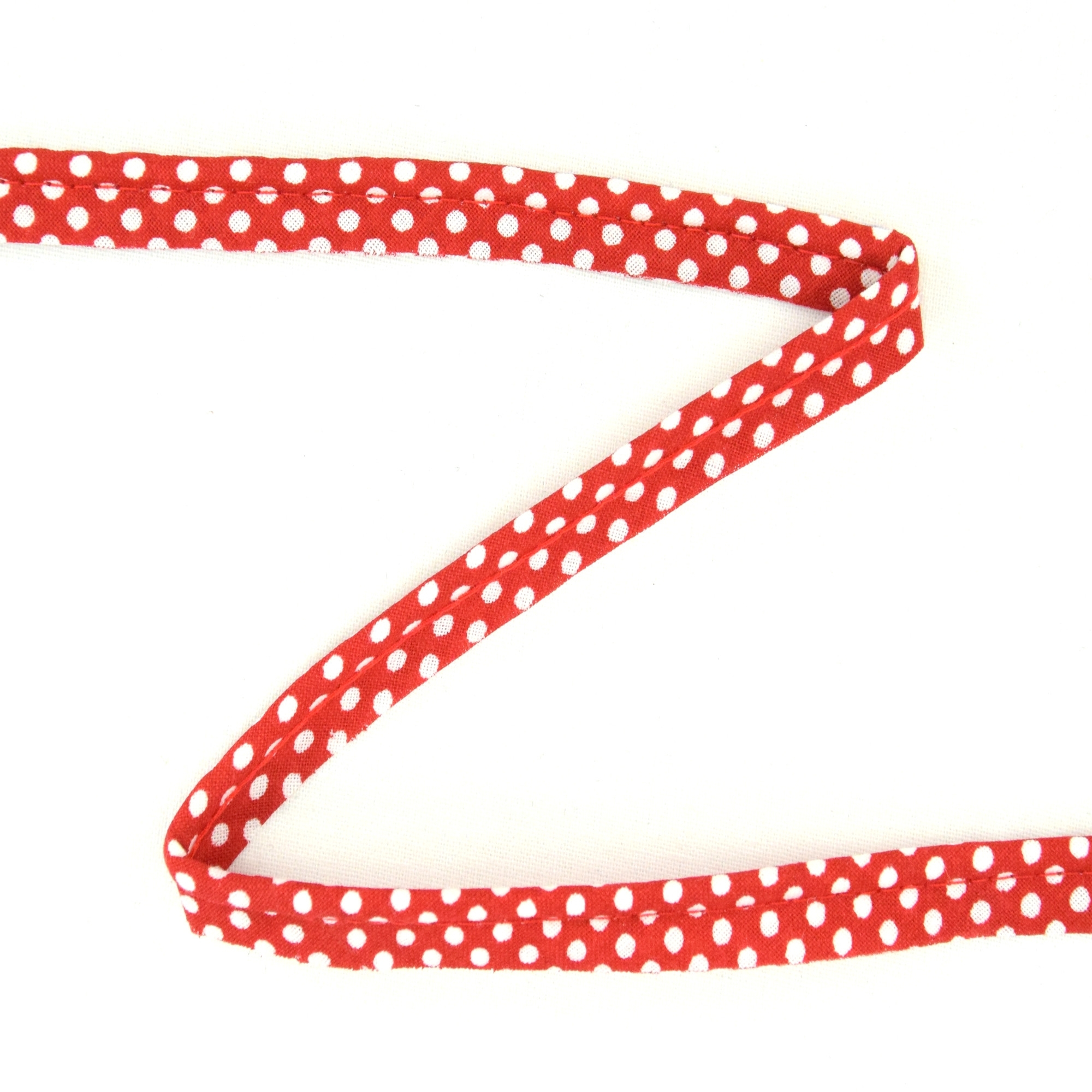 Piping ribbon Dots, rood-wit | 1822-8 | rot
