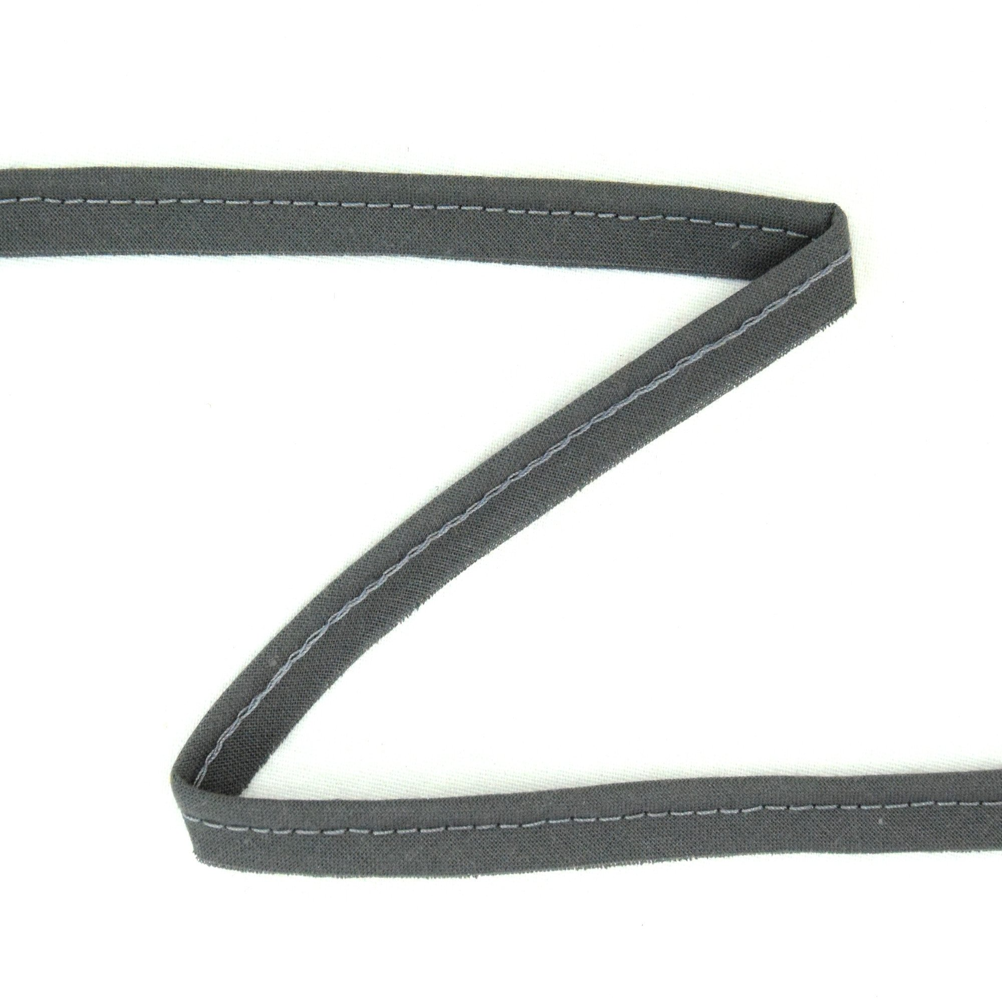Piping ribbon, dark grey
