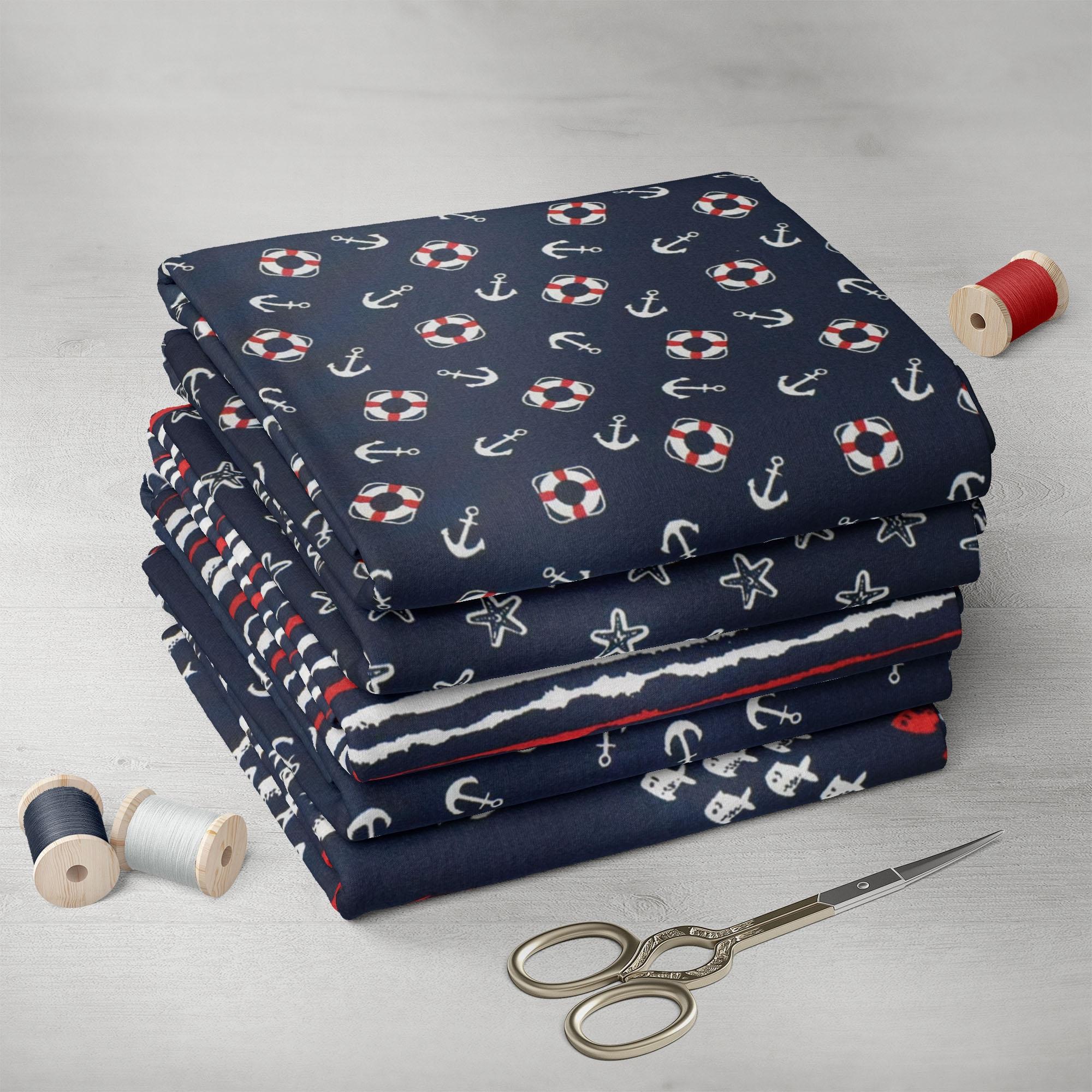 patchwork quiltpaket 44 maritim stoffe. Black Bedroom Furniture Sets. Home Design Ideas