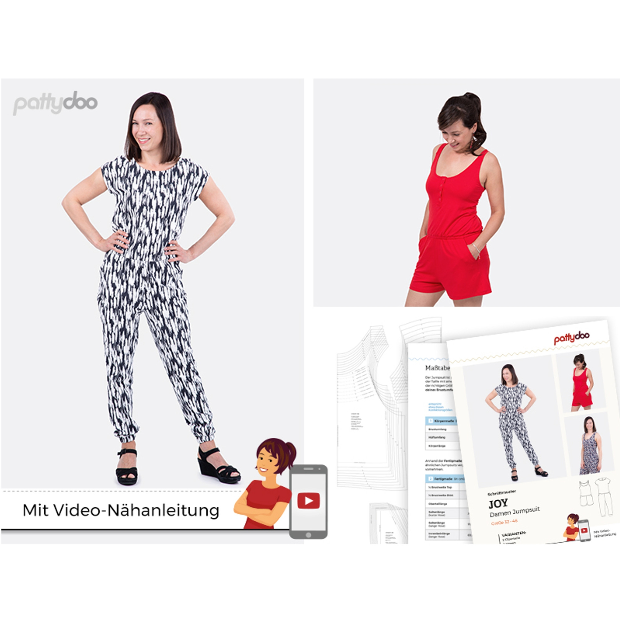 pattydoo Jumpsuit Joy Papierschnittmuster | PATTYDOO-JOY |