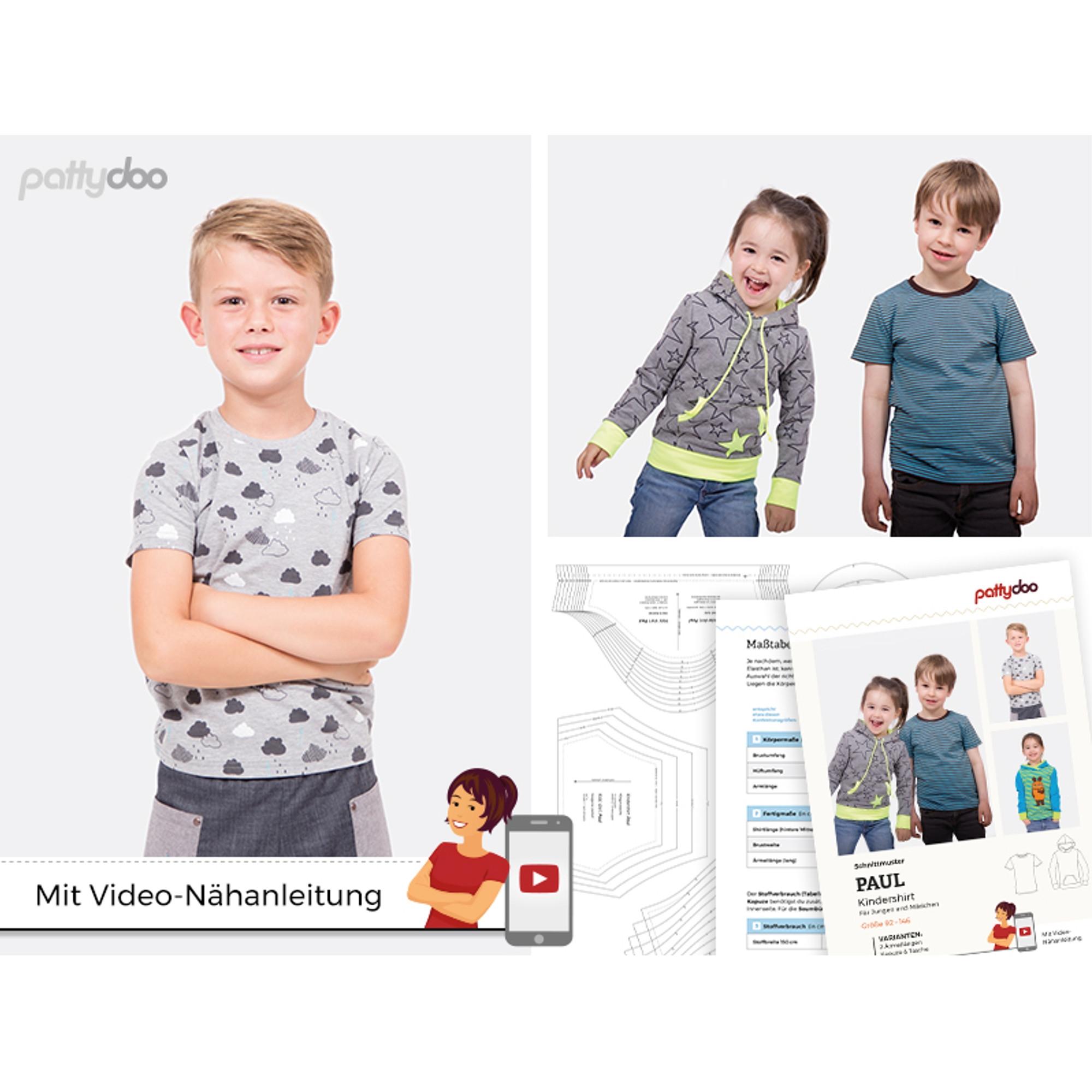 Papierschnittmuster für das Kindershirt 'Paul' von pattydoo