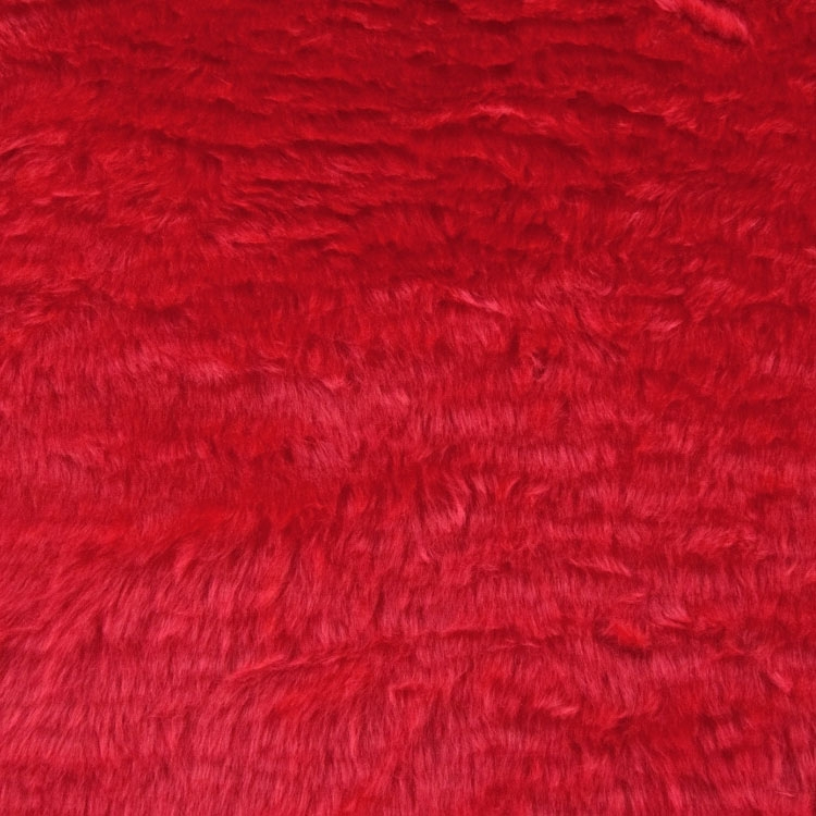 Tissu fausse fourrure 13 mm rouge | 100.096-5019 | rot
