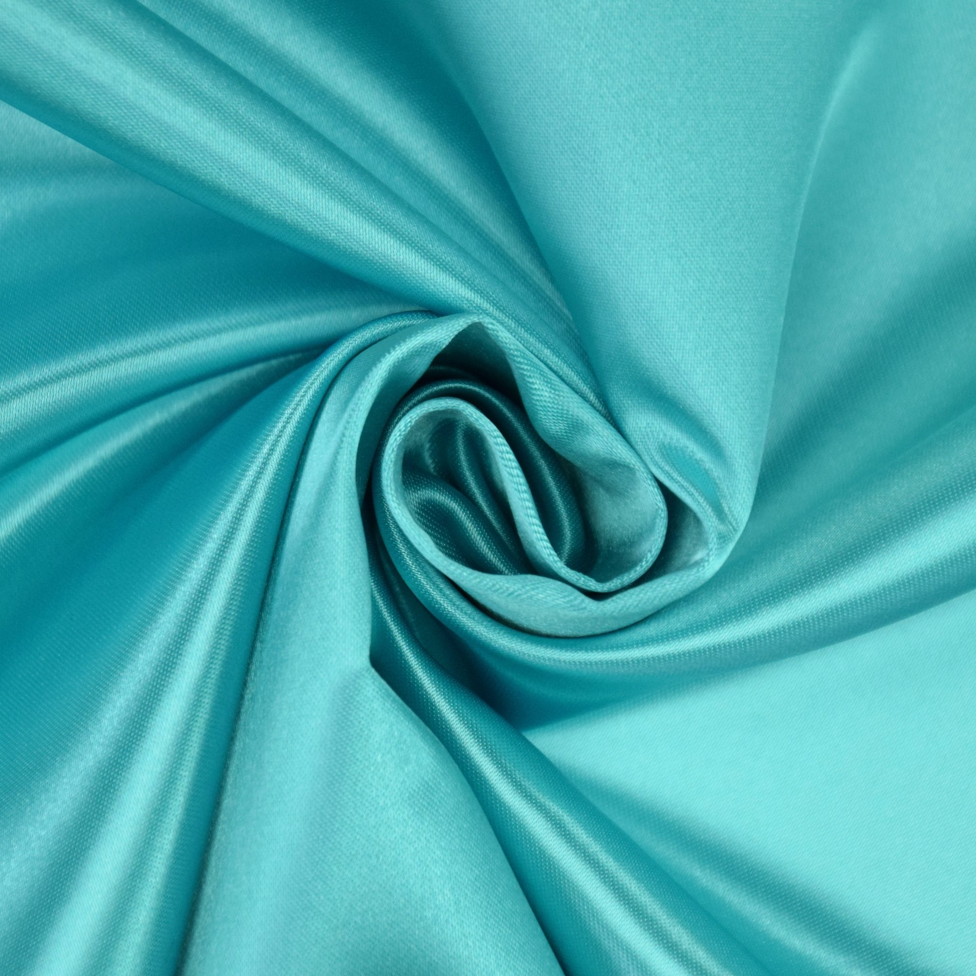 Satin de polyester turquoise