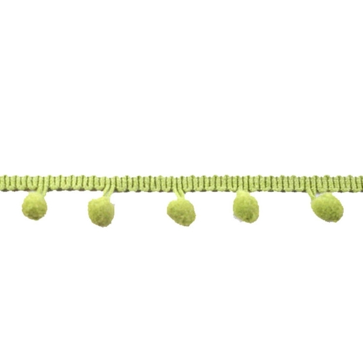 Pom pom trim medium-sized, 20 mm, apple green