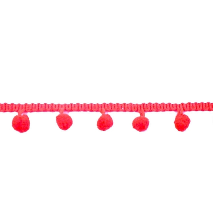 Bolletjesband middel, rood 20 mm