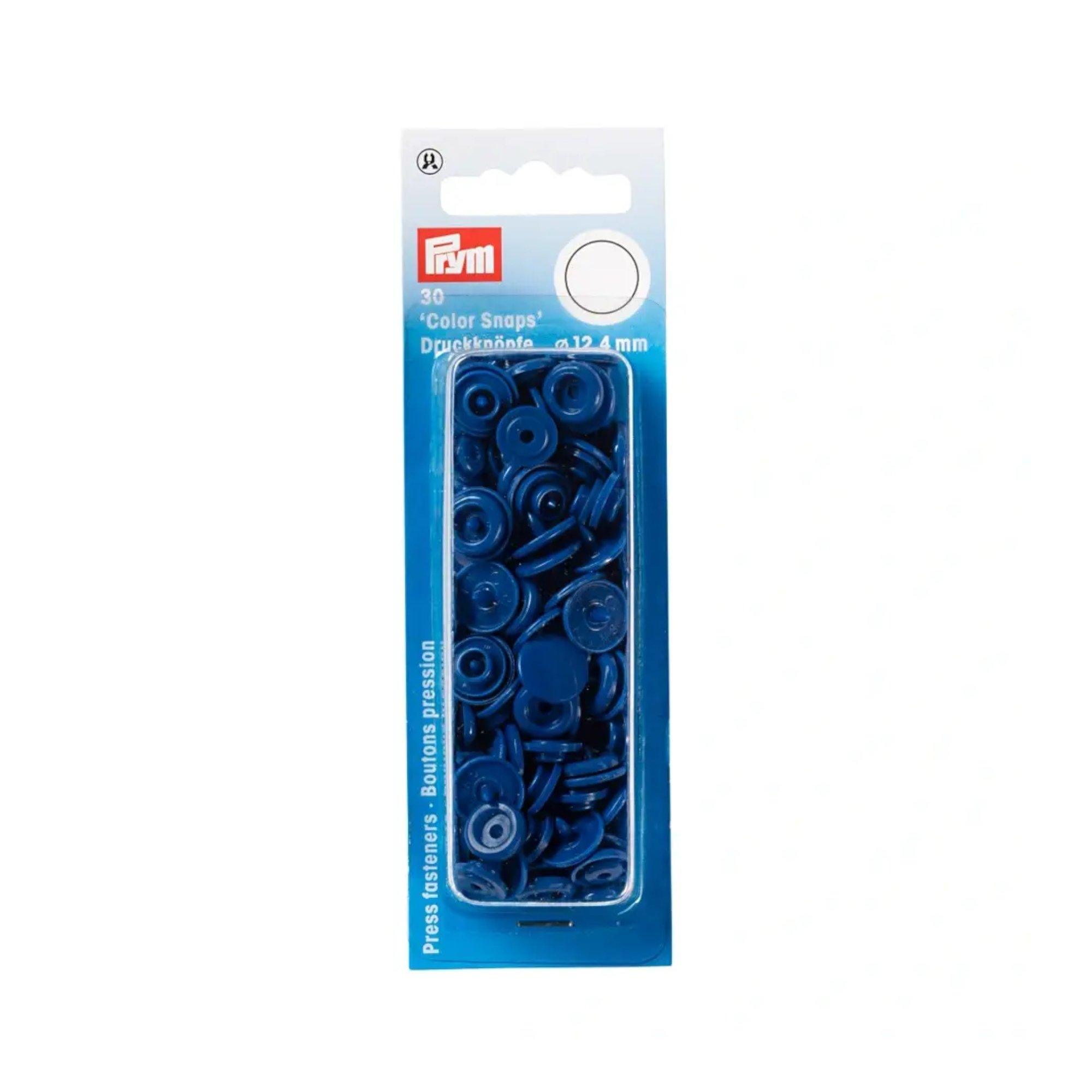 Press fasteners 12,4 mm, blauw