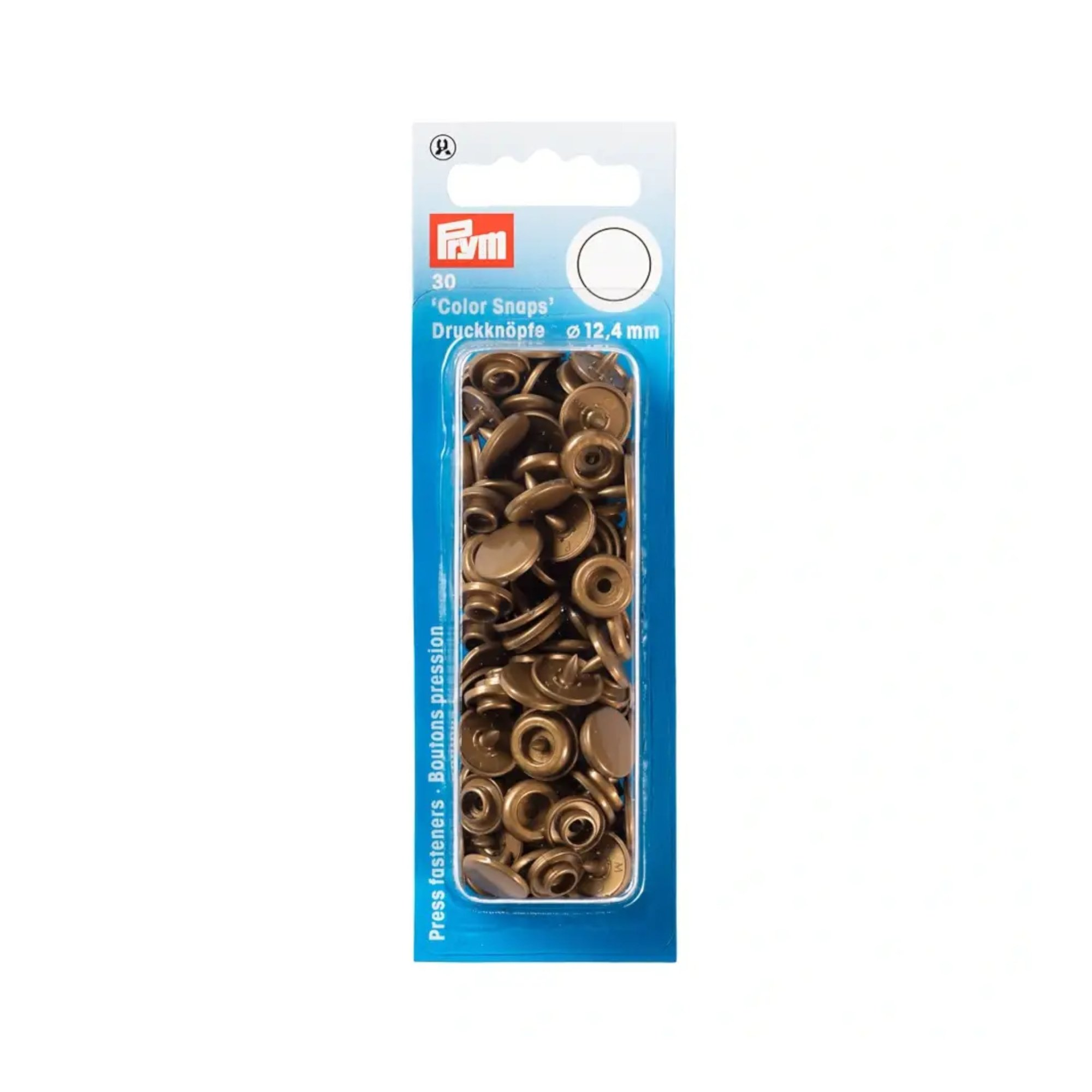 Press fasteners 12,4 mm, goud