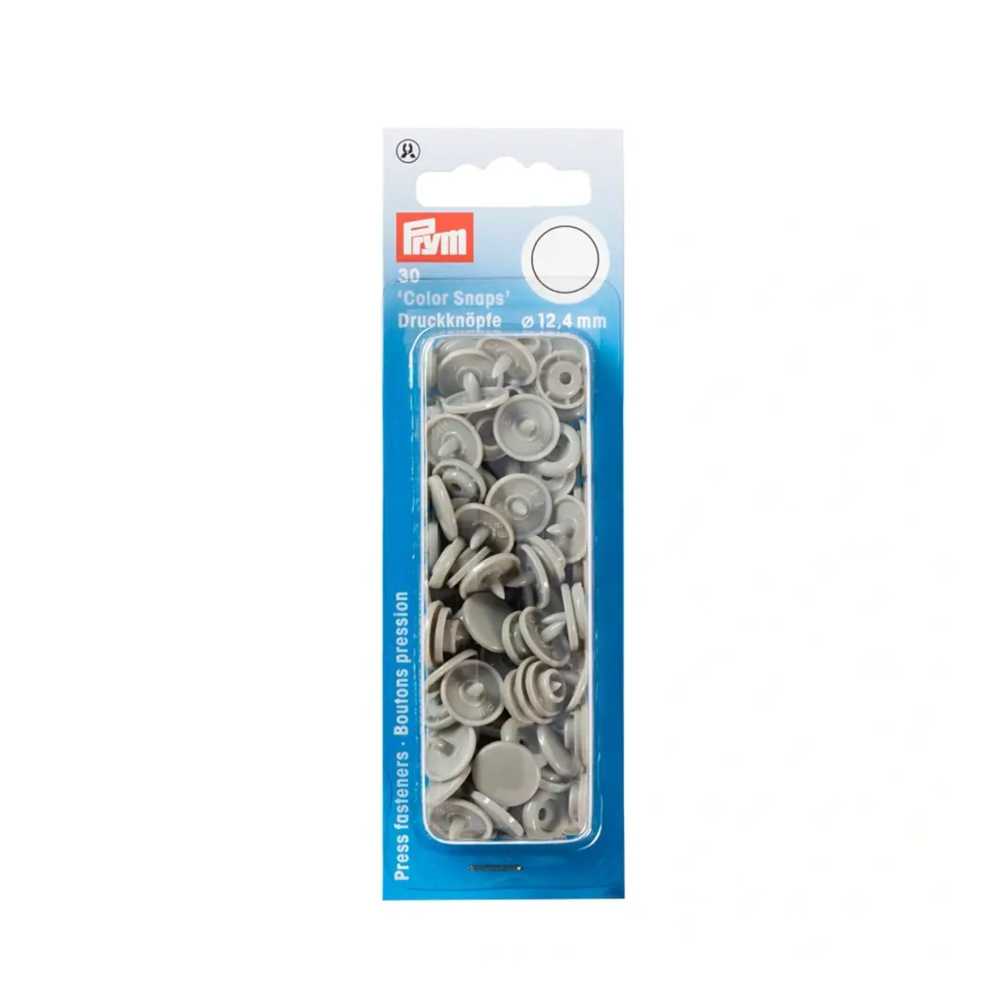 Press fasteners 12,4 mm, grijs