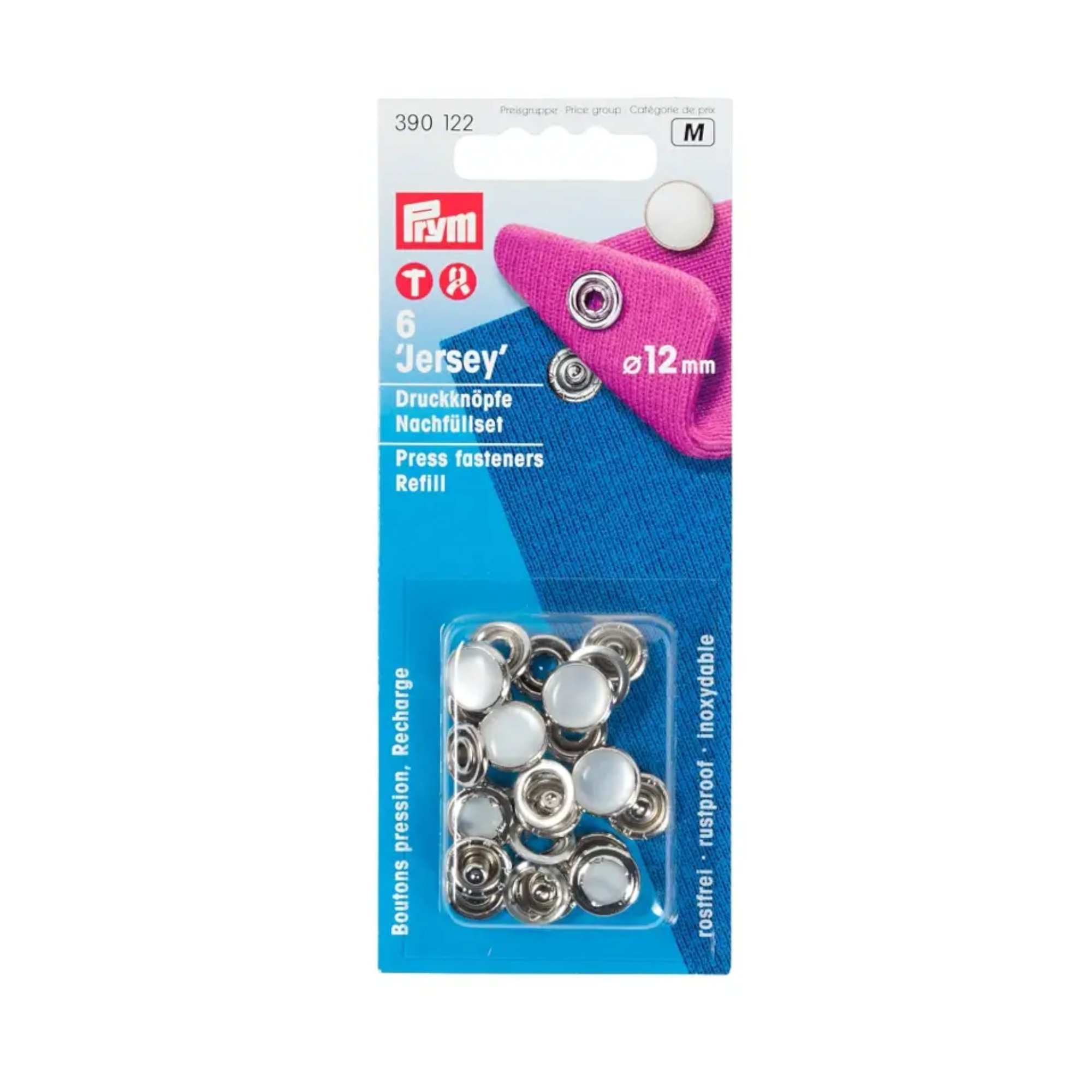Refill Packs brass for 390117 mother-of-pearl imit