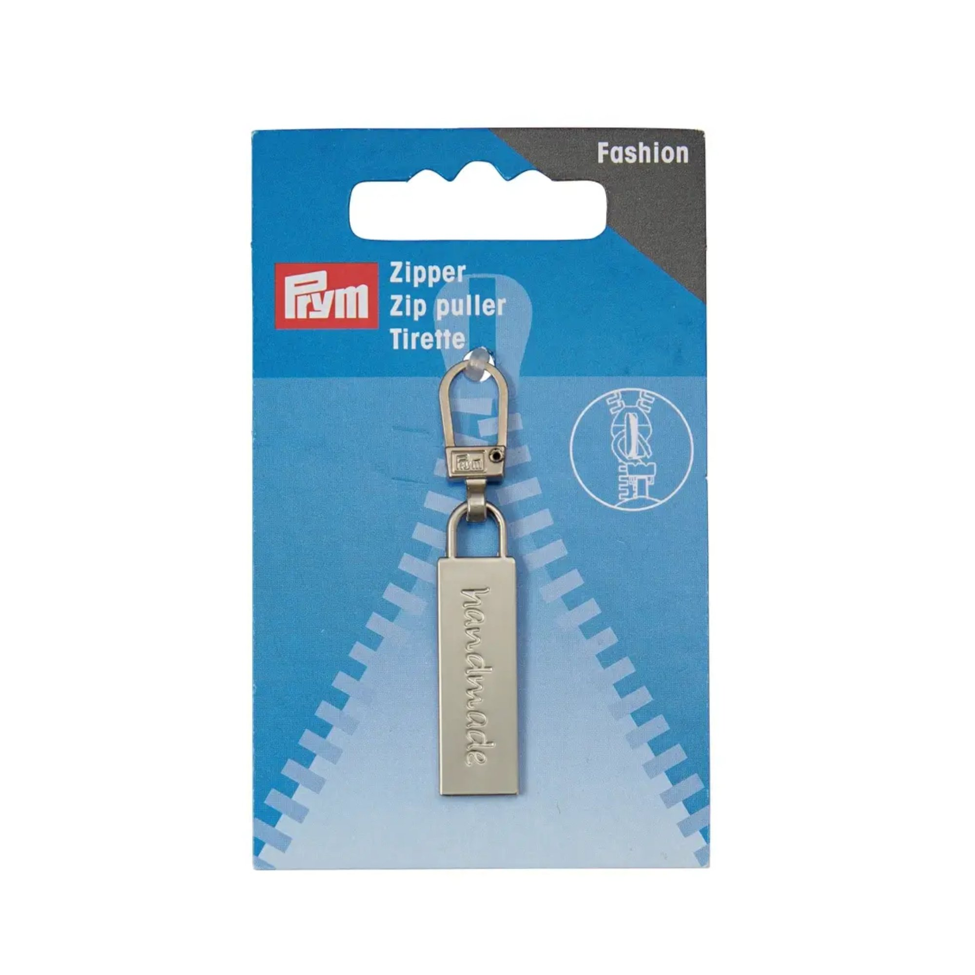 Prym Fashion Zipper,  handmade, silber