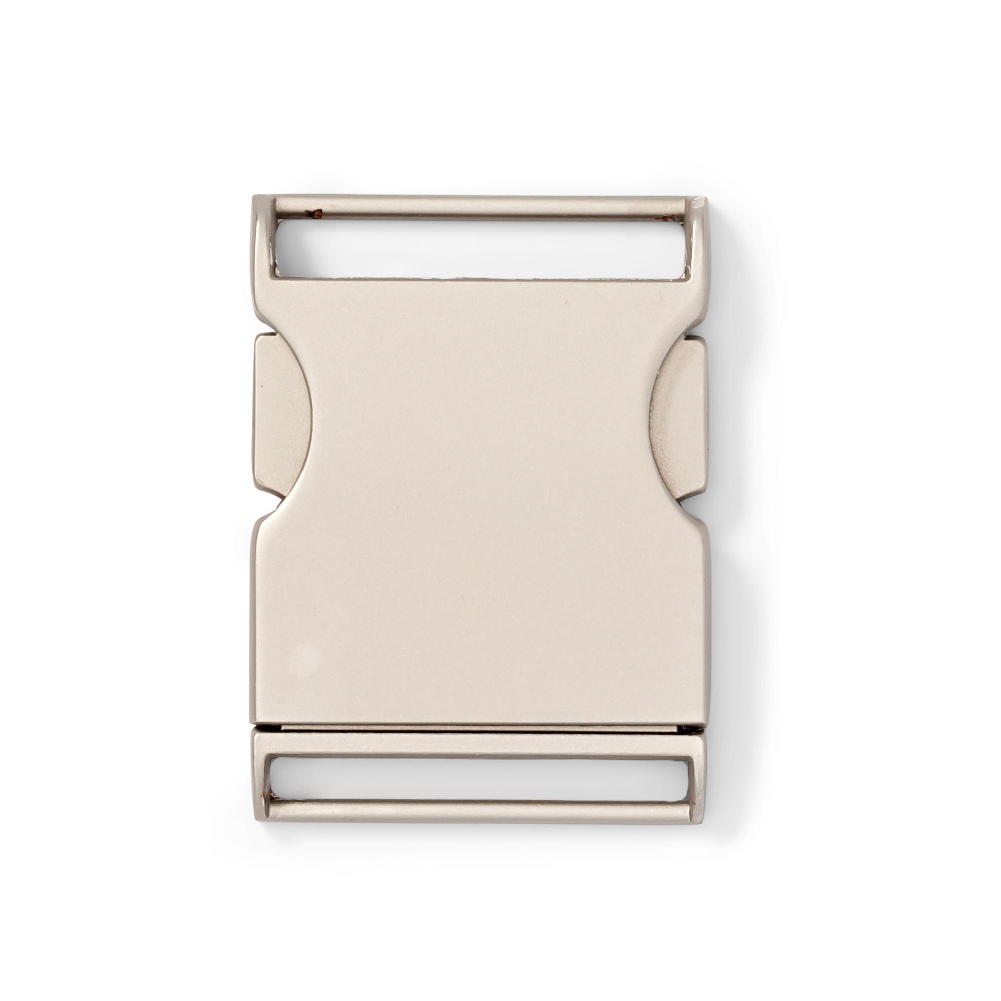 Gürtelschnalle  Metall schwarz matt 37 mm