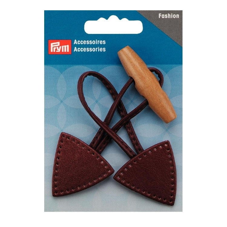 Prym  Toggle Closure 15 x 5 cm brown